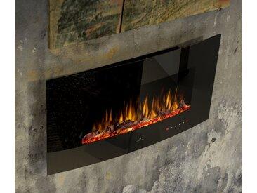 Noble Flame DETROIT 900 schwarz [B-Ware gewölbter Elektro Wandkamin]