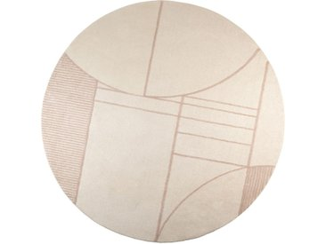 Zuiver »Bliss« Teppich rund natur/rosa 240 cm