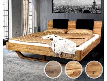 Massivholz »Dolce Vita« Wildeiche Bett 200x200 cm / Wildeiche natur / ohne Kissen