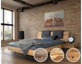 Massivholz »Dolce Vita II« Wildeiche Bett 180x200 cm / Wildeiche natur / ohne Kissen
