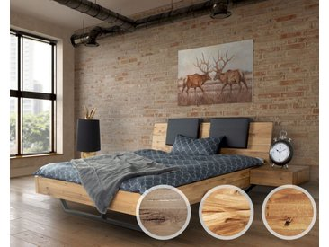 Massivholz »Dolce Vita II« Wildeiche Bett 200x200 cm / Wildeiche natur / ohne Kissen