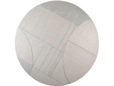 Zuiver »Bliss« Teppich rund blau/grau 240 cm
