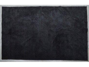 "die Faktorei Design-Teppich Labyrinth"" dunkelgrau 160x230 cm"""