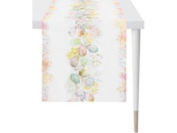 APELT Tischläufer »6908 HAPPY EASTER« (1-tlg), Digitaldruck, bunt, weiß-pastellgelb-bunt