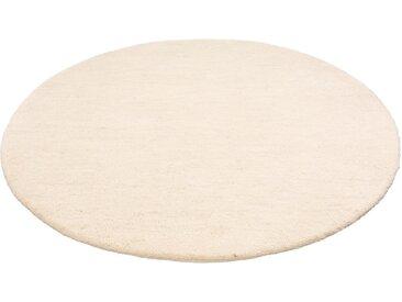 Leonique Wollteppich »Punam«, rund, Höhe 28 mm, Echter Berber, grau, grau