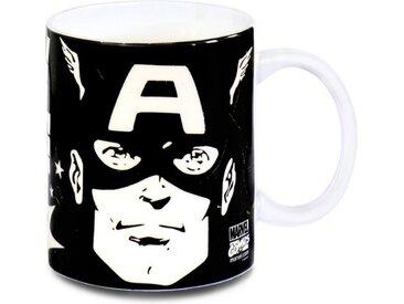 LOGOSHIRT Tasse mit Comic Print »Captain America«, schwarz, schwarz