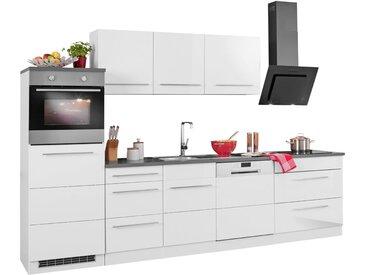 HELD MÖBEL Küchenzeile »Trient«, ohne E-Geräte, Breite 300 cm, weiß, weiß Hochglanz