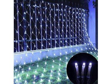 TOPMELON Lichterkette, LED Net Mesh Lichterkette, Wasserdicht, 4 Größen,Weihnachtsdekoration, weiß, 96 St., Weiß