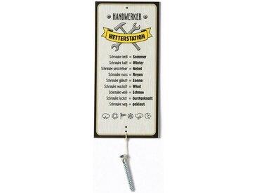 GILDE Metallschild, Wetterstein, Wetterstation als Aluschild, Modell HANDWERKER mit Schraube, Material Metall, Maße Schild 30 x 14 cm (ohne Schraube)