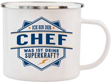 HTI-Living Becher »Echter Kerl Emaille Becher Chef«