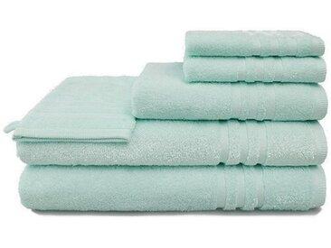 grace grand spa Handtuch Set »Aktion« (3-tlg), mit Streifen-Bordüre, grün, mint