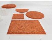 Home affaire Badematte »Maren« , Höhe 15 mm, rutschhemmend beschichtet, fußbodenheizungsgeeignet, Bio-Baumwolle, orange