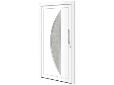 RORO Türen & Fenster RORO TÜREN & FENSTER Kunststoff-Haustür »Otto 15«, BxH: 100x210 cm, weiß, ohne Griff, weiß, rechts, weiß