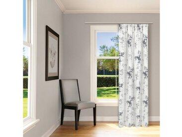 Gerster Vorhang »Moderne Vorhang SANDRA Grau blickdicht 100% Bio-Baumwolle 140 / 245cm Schal mit Band & Tunnelzug, GOTS zertifiziert«