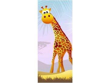 Bilderdepot24 Deco-Panel, Türaufkleber - Kinderbild Safari