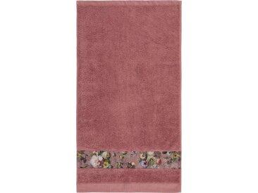 Essenza Duschtuch »Fleur« (1-St), Bordüre im wunderschönen Blumenprint, rosa, Loop-Aufhänger, dusty rose