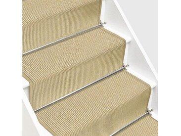 Floordirekt Sisalteppich »Treppenteppich Sylt«, rechteckig, natur, Elfenbein