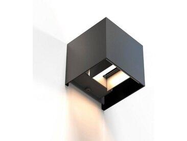 Hama WLAN-Lampe, LED-Wandleuchte für außen u. innen, 10x10x10cm »Smart Home Lampe ohne Hub«, schwarz, Schwarz