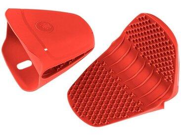 Kochblume Topfhandschuhe »Thermo-Fingerschutz«, (2-tlg), Hitzebeständig bis 230°, rot, rot