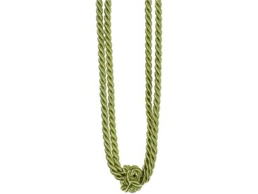 Gerster Raffhalter »Amber«, Gardinen, (1-tlg), grün, metallicgrün