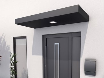 GUTTA Rechteckvordach »BS 200«, Aluminium anthrazit, BxT: 200x90 cm, grau, 200 cm, grau