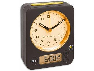 TFA Dostmann Analoger Funk-Wecker mit digitaler Alarmeinstellung »COMBO«, schwarz / gelb