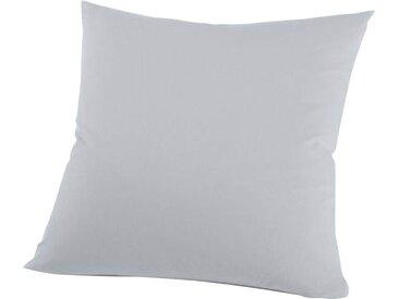 Schlafgut Kissenbezug »Nelke«, (1 Stück), Interlock-Jersey, soft und weich, silberfarben, Interlock-Jersey, platinfarben