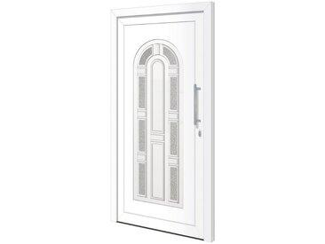 RORO Türen & Fenster RORO TÜREN & FENSTER Kunststoff-Haustür »Otto 11«, BxH: 110x210 cm, weiß, ohne Griff, weiß, rechts, weiß