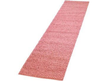 Carpet City Hochflor-Läufer »Pastell Shaggy300«, rechteckig, Höhe 30 mm, rosa, pink