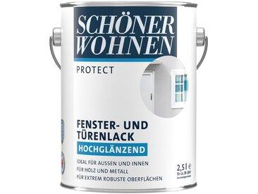 SCHÖNER WOHNEN-Kollektion SCHÖNER WOHNEN FARBE Lack »Protect Fenster- und Türenlack«, hochglänzend, 2500 ml, weiß, weiß, weiß