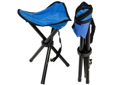 AMANKA Campinghocker »Camping Hocker Klapphocker Angelhocker«, Campinghocker Dreibein Stuhl Blau