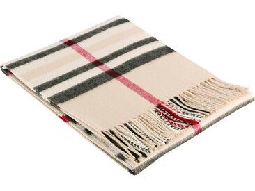 BIEDERLACK Plaid »Classy«, klassisches Karo-Design, braun, beige-antracite-rot