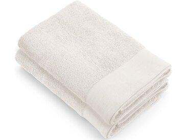 Walra Duschtücher »Soft Cotton« (2-St), mit gewebter Bordüre, weiß, weiß