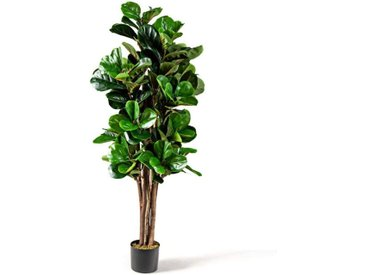 COSTWAY Kunstpflanze »Künstlicher Feigenbaum Kunstbaum Deko Pflanze Zimmerpflanze«, mit Blumentopf