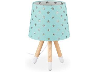 relaxdays Nachttischlampe »Nachttischlampe Kinder Sterne«, grün, Mint