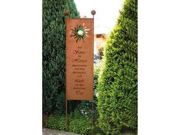 HOME DELUXE Gartenfigur »Rost Gartenschild«, Gartenstecker aus Edelrost, braun, Rostfarbe Sunlight