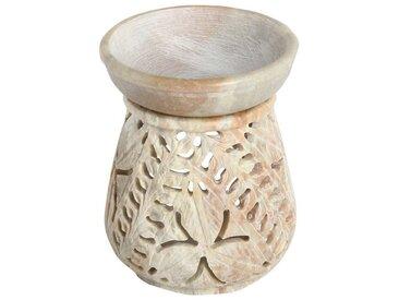 Casa Moro Duftlampe »Orientalische Duftlampe Shakir-3 aus Soapstone geschnitzt 10x10x11 cm (B/T/H) Diffusor, Teelicht-Halter für Aromatherapie