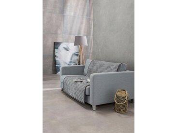 IBENA Sofaschoner »Fano« , mit modernen Streifen, grau, dunkelgrau-hellgrau