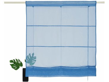 my home Bändchenrollo »Xana«, mit Stangendurchzug, blau, blau