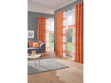 my home Vorhang »Camposa«, Kräuselband (2 Stück), orange, terra