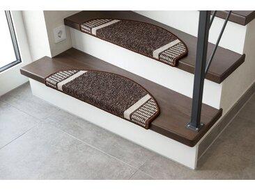 Andiamo Stufenmatte »Runner«, halbrund, Höhe 9 mm, Treppenmatte, Stufenteppich, Treppenschutz, Treppenschutzmatte, Teppich-Stufenmatte, für innen, im Set erhältlich, braun