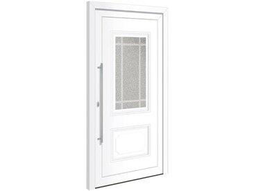 RORO Türen & Fenster RORO TÜREN & FENSTER Kunststoff-Haustür »Otto 8«, BxH: 100x210 cm, weiß, ohne Griff, weiß, links, weiß