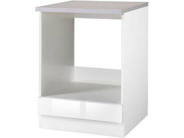 wiho Küchen Herdumbauschrank »Chicago« 60 cm breit, weiß, Weiß Glanz
