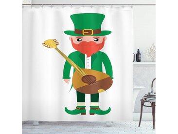 Abakuhaus Duschvorhang »Moderner Digitaldruck mit 12 Haken auf Stoff Wasser Resistent« Breite 175 cm, Höhe 180 cm, Elf Cartoon mit einer Mandoline