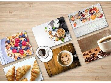 """Tischsetmacher Platzset, »Tischsets I Platzsets - Frühstück Set """"Guten Morgen"""" - 6 Motive à 2 Stück aus hochwertigem Papier 44 x 32 cm«, (12-St)"""