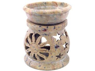 Guru-Shop Duftlampe »Indische Duftlampe, ätherisches Öl Diffusor,..«, Rund Sonne & Sterne