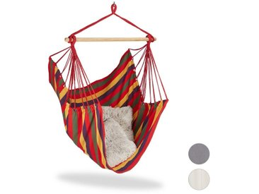 relaxdays Hängesessel »Hängesitz Baumwolle«, mehrfarbig