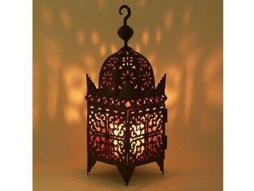 Casa Moro Laterne »Marokkanische Eisenlaterne Firyal H-60 cm edelrost-braun für draußen & Innen, Kunsthandwerk aus Marokko, hängend & stehend