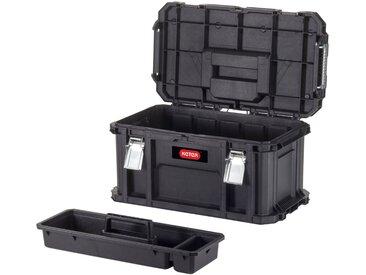 Keter KETER Werkzeugkasten »Connect«, 29,6 l Fassungsvermögen, 56x37x55cm, schwarz, schwarz