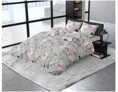 Royal Textile Bettbezug »Bettbezug & Kissenbezüge SORAYA Dreamhouse Baumwollsatin Grau«, Mit Druckknopfverschluss